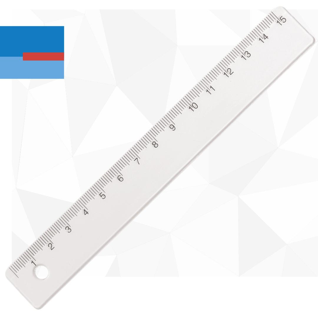 Plastični providni školski lenjir 15cm