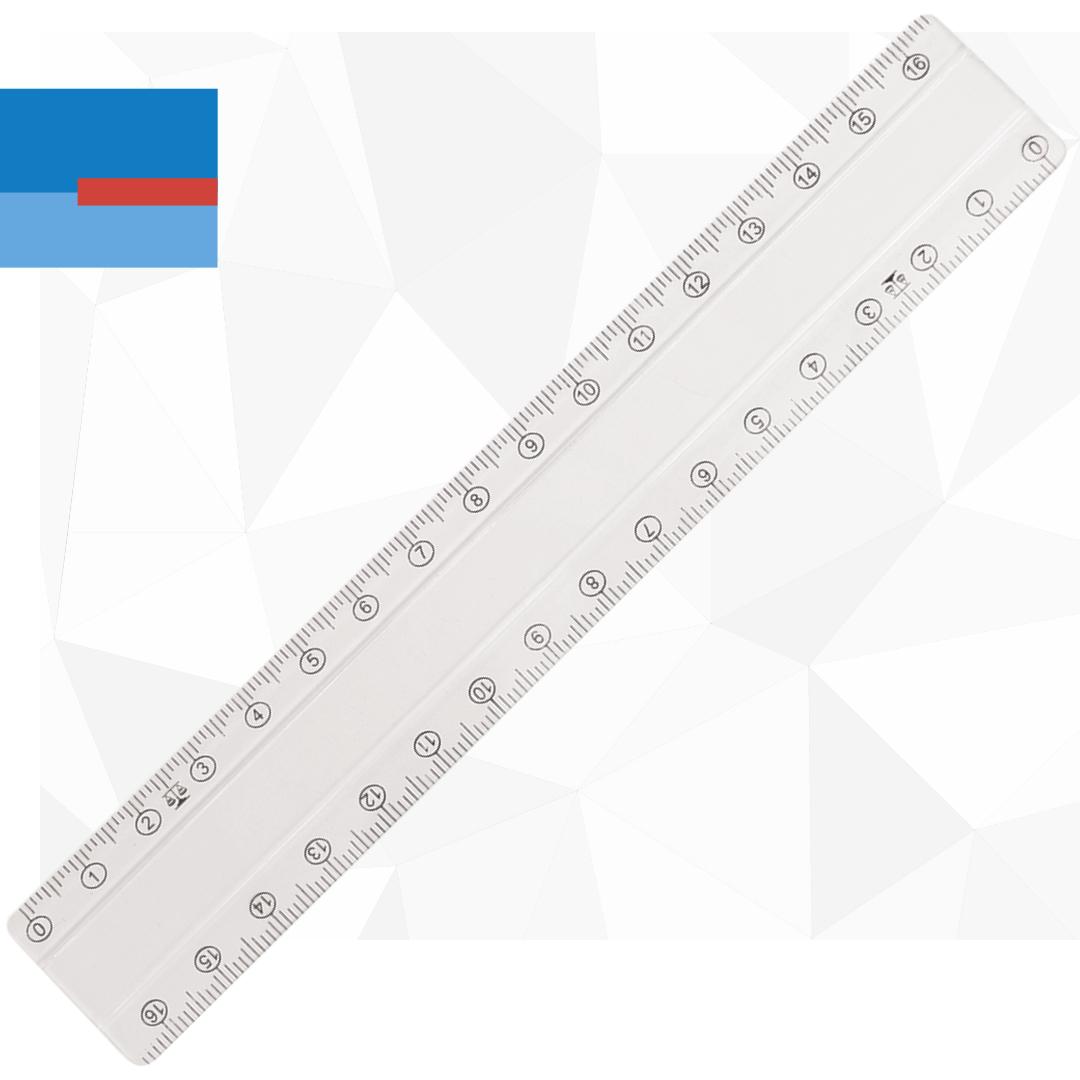Školski plastični providni lenjir 17cm