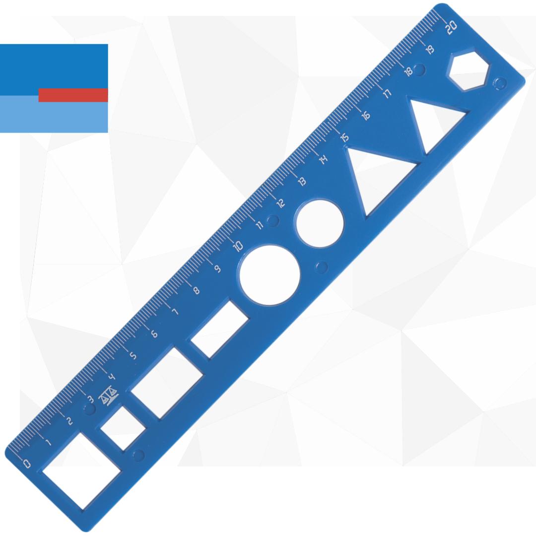 Plastični školski matematički lenjir dužine 20cm