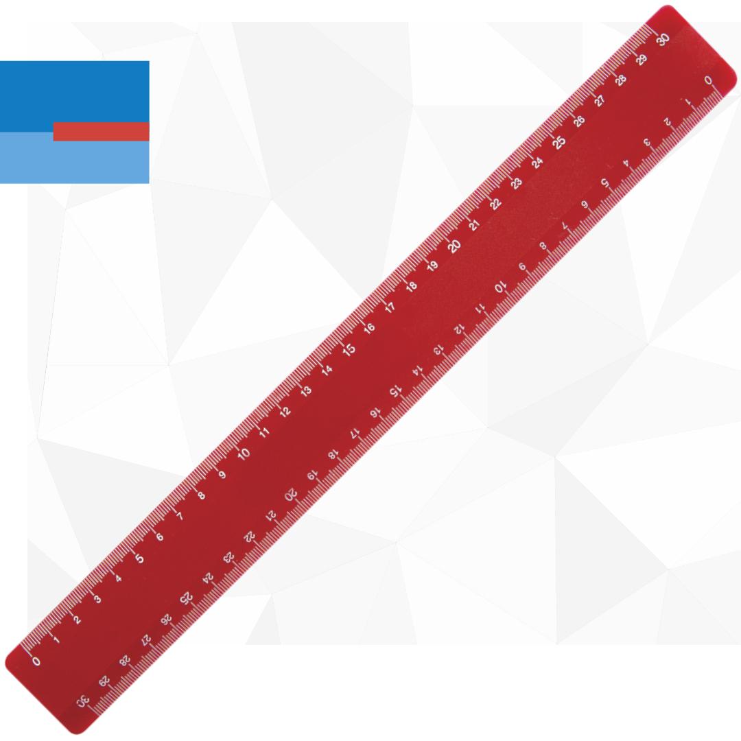Plastični školski promo lenjir dužine 30cm