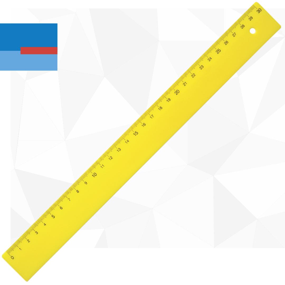 Plastični fluo lenjir dužine 30cm