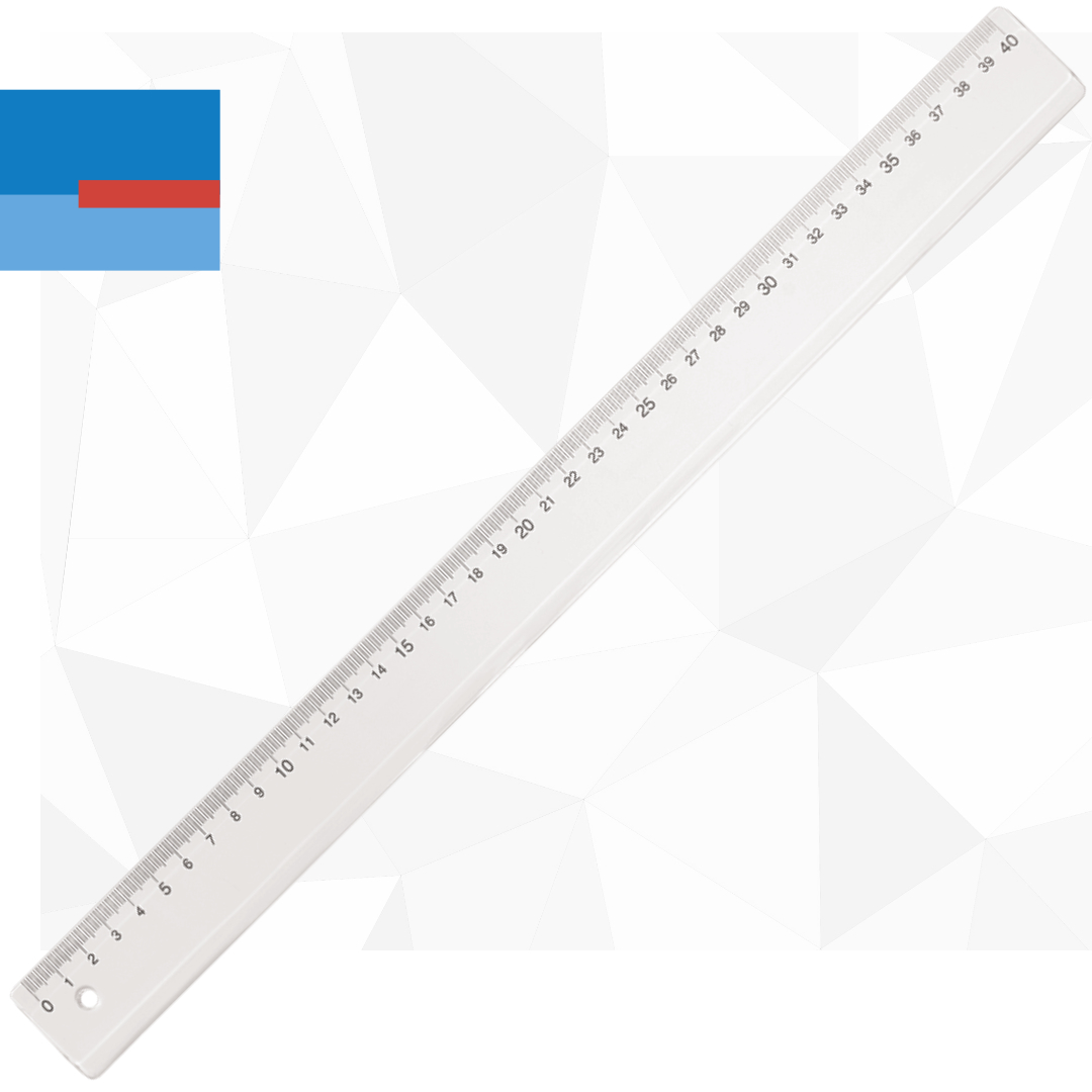 Plastični školski providni lenjir 40 cm
