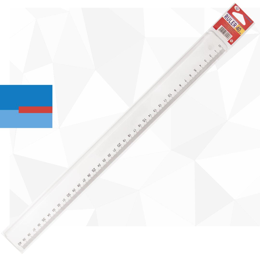 Lenjir u blister pakovanju dužine 40cm providni plastični