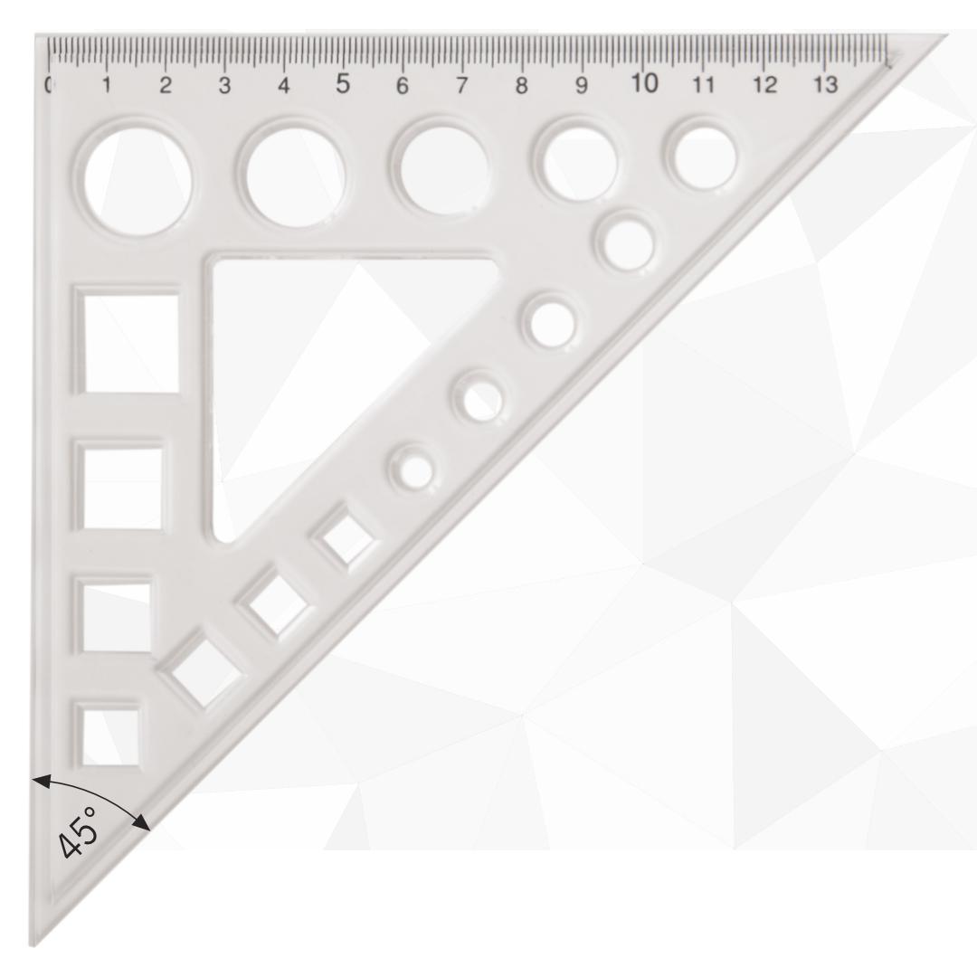45 plastični trougao sa geometrijskim telima