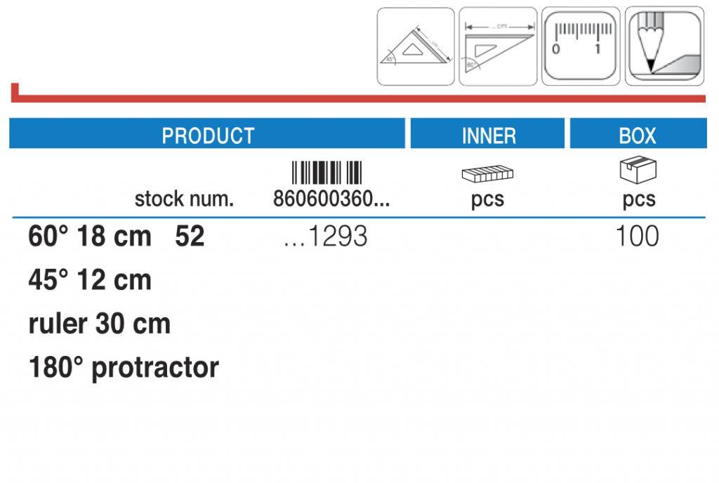 Twiggy set lenjira u PVC pakovanju