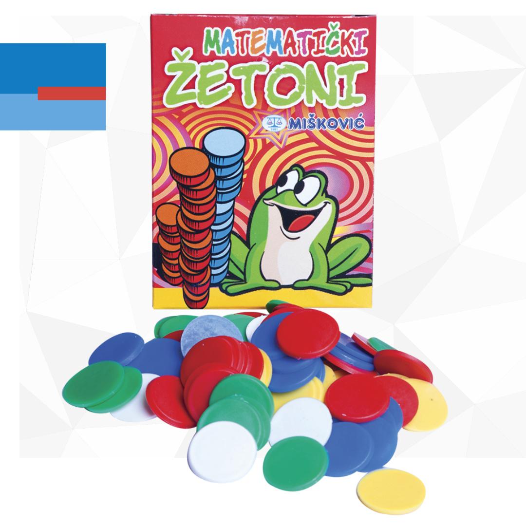 Plastični raznobojni matematički žetoni